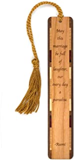 product image for Rumi Marriage Quote, Engraved Wooden Bookmark with Tassel - Search B0714PRVH5 for Personalized Version