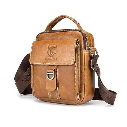 Leap de G Bandolera Hombre, Super Modern piel Messenger Bag bolso, bolsa de hombro de alta calidad para trabajo, Uni, viaje, deportes
