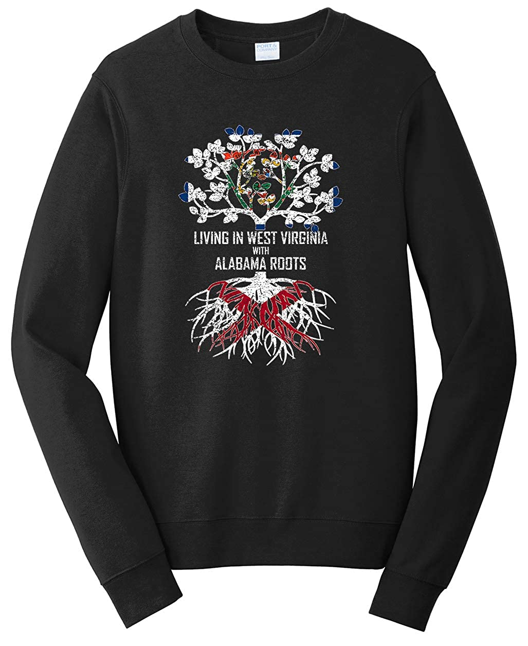 Tenacitee Unisex Living in West Virginia Alabama Roots Sweatshirt