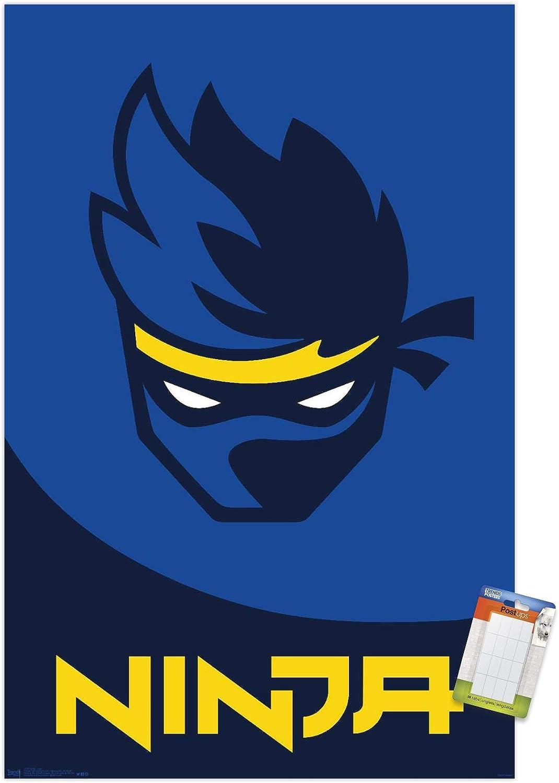 Trends International Ninja-Logo Mount Wall Poster, 22.375