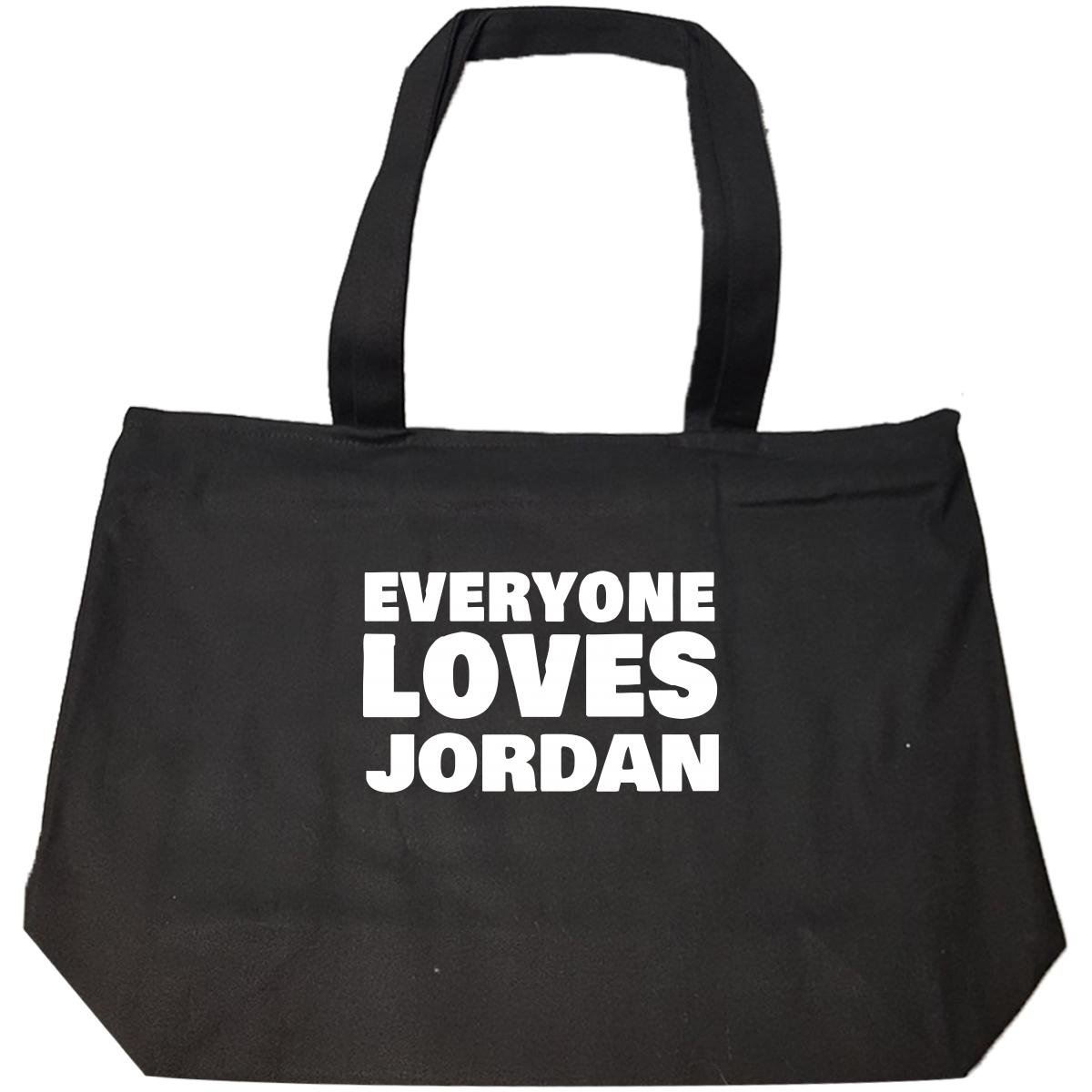 Everyone Loves Jordan Funny Female First Name Gift - Tote Bag With Zip by We Add Up