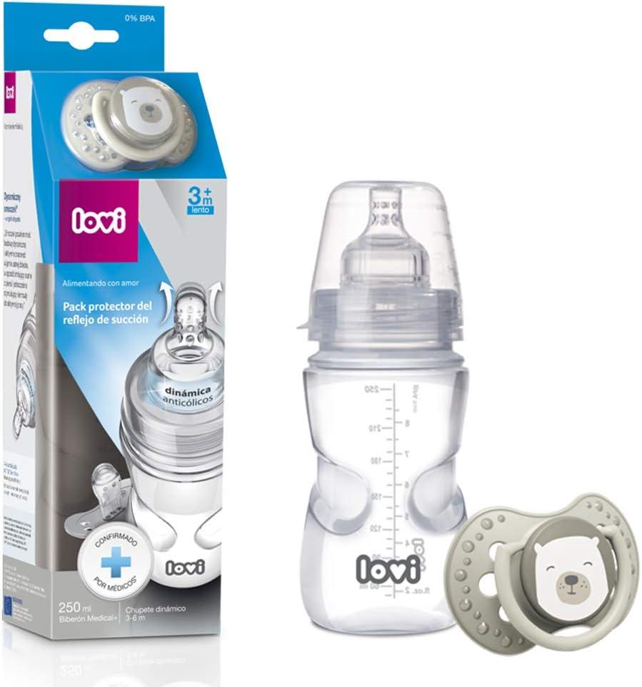 LOVI Pack Protector del Reflejo de Succión: Biberón 250ml y ...