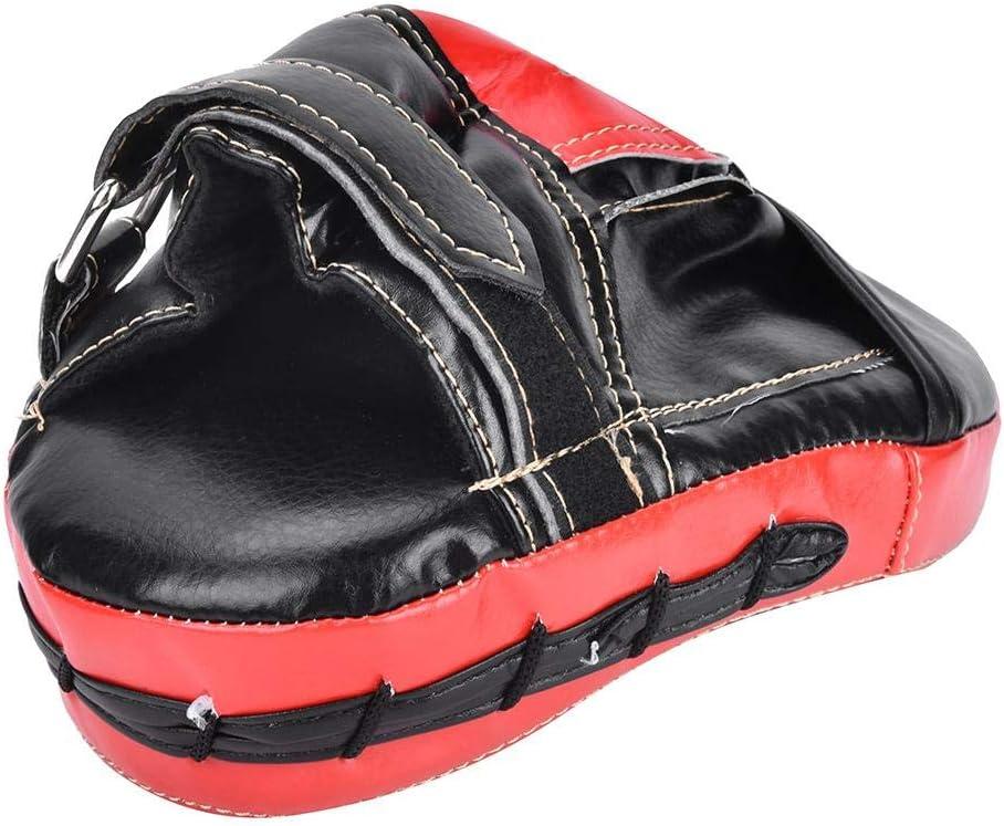 Almohadilla De Huelga De Boxeo Objetivo De Mano Curvada Kickboxing De Cuero para Entrenamiento De Boxeo