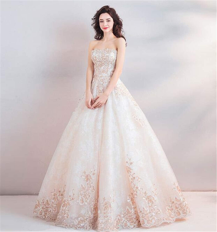 LYJFSZ-10 Hochzeitskleid,Elegantes Trägerloses Brautkleid Für