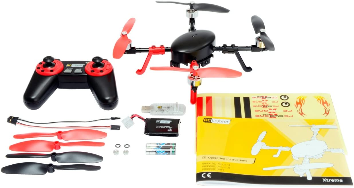 RC Logger Eye One Xtreme 6-Axis Auto-Balancing Quadcopter with Brushless Moto...
