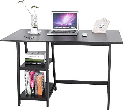 Zerone Mueble de Mesa para Ordenador con estantería, Mesa ...