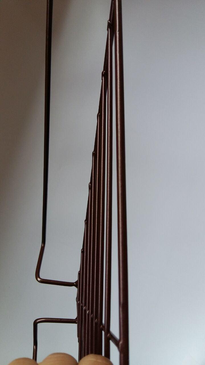 2 Metall braun zum Aufhängen Büro Duschkabine Kappen Ecke Rack Regal ...