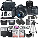 Canon EOS 7D Mark II 20.2MP CMOS Digital SLR Camera Bundle with Canon EF-S 18-55mm f/3.5-5.6 IS STM Lens + Tamron Zoom Telephoto AF 70-300mm f/4-5.6 Autofocus Lens + Accessory Kit
