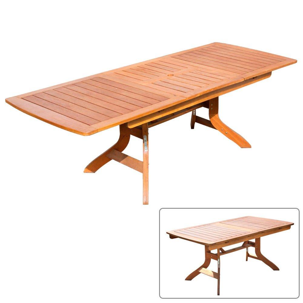 tavolo allungabile pieghevole in legno di balau arredamento ... - Tavolo Da Giardino In Legno Balau