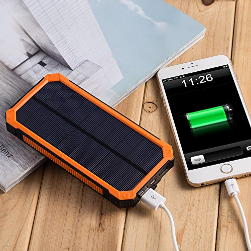 Solar Charger With 6LED Flashlight 15000mAh Solar Power
