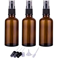 2oz Amber Glass Spray Bottles for Essential Oils, Small Empty Spray Bottle, Fine Mist Spray, Set of 3
