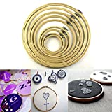 Lieomo Wooden Cross Stitch Machine Embroidery Hoop Ring Bamboo Sewing 8cm - 33cm 9pcs Tools Kit TO312