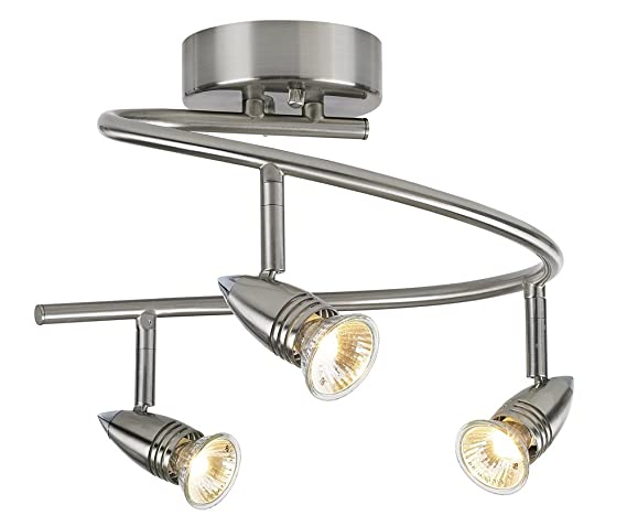 pro track 3 light spiral ceiling light fixture close to ceiling