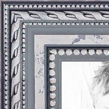 ArtToFrames WOM80801-SLV-11x14 Ornate Wood Picture Frame, 11 x 14 , Silver