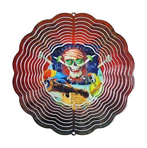 Next Innovations 11.5 by 11.5-Inch Party Pirate Jim Mazzota Eyecatcher Wind Spinner, Medium by Next Innovations
