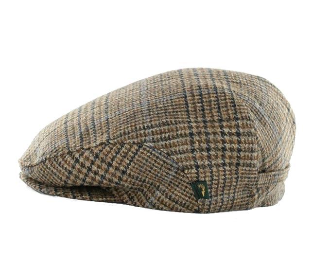 eaf9f4a0c Irish Tweed Cap Brown Check 100 percent Wool, Brown, Medium at ...