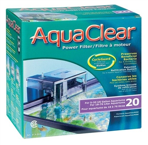 Hagen AquaClear 20 Power Filter (Plus Extra Set of Media)