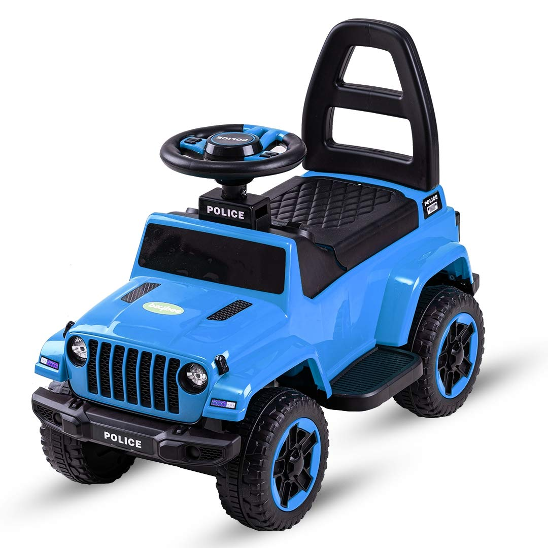 Baybee Baby Toy Car Rechargeable Battery Operated Ride on car for Kids Baby with 6V Battery, Children Car,Baby Racing Car for Boys & Girls Toys Age 2 to 4 Years (Blue)