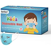 Optitect Disposable Kids Face Mask 3 Ply with Ear-Loop, for boys Pack of 50