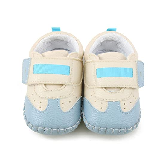 Culater? Ragazze del bambino ragazzi fino pattini della greppia Prewalker Sneakers (1.5, Blu)
