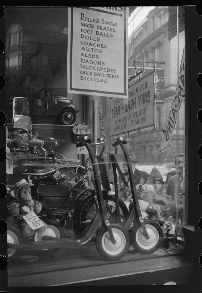 Reproduced Photo of A Window Display Providence, Rhode Island 1940 Delano C Jack 48a