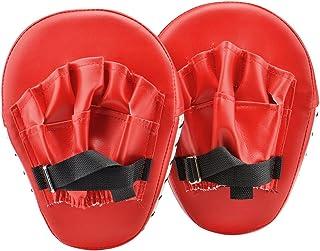 Wuudi 1PAIR OF Boxing target Pad rosso punzonatura guanti boxe da allenamento per boxe Traning Match