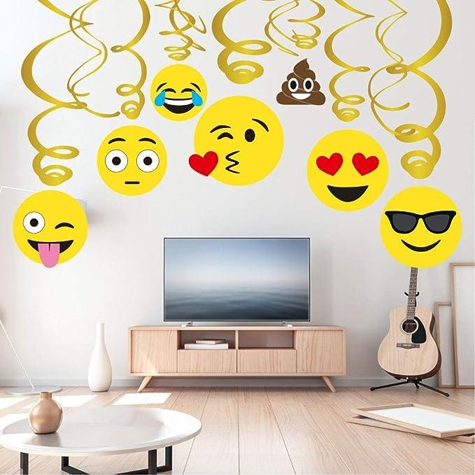Sayala 30Piezas Emoji-Icon Smiley Face Decoraciones de cumpleaños, Emoji Decoraciones de feliz cumpleaños Niñas Niños Niños Adultos Adolescente Fiesta ...