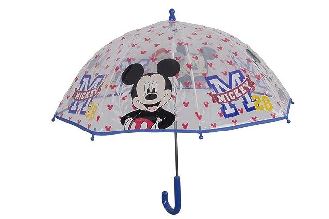 Paraguas niño cúpula largo PERLETTI DISNEY MICKEY MOUSE azul ...