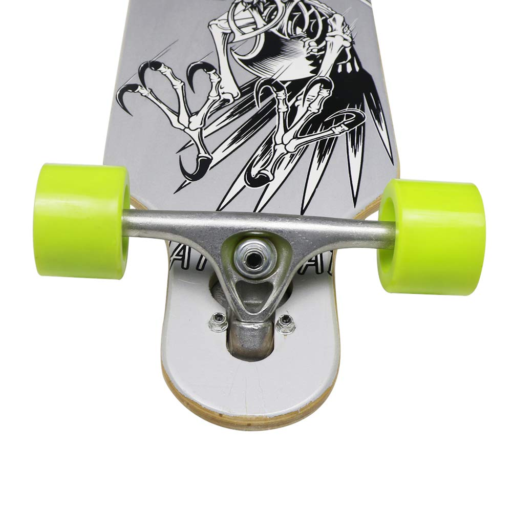 Free-Style and Downhill Nattork 42 Inch Maple Longboard Skateboard Drop Through Complete Skateboard Cruiser for Cruising Carving