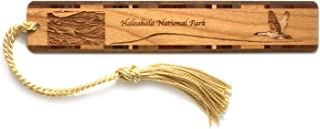 product image for Haleakala National Park, Hawaii - Engraved Wooden Bookmark with Tassel - Also Available Personalized