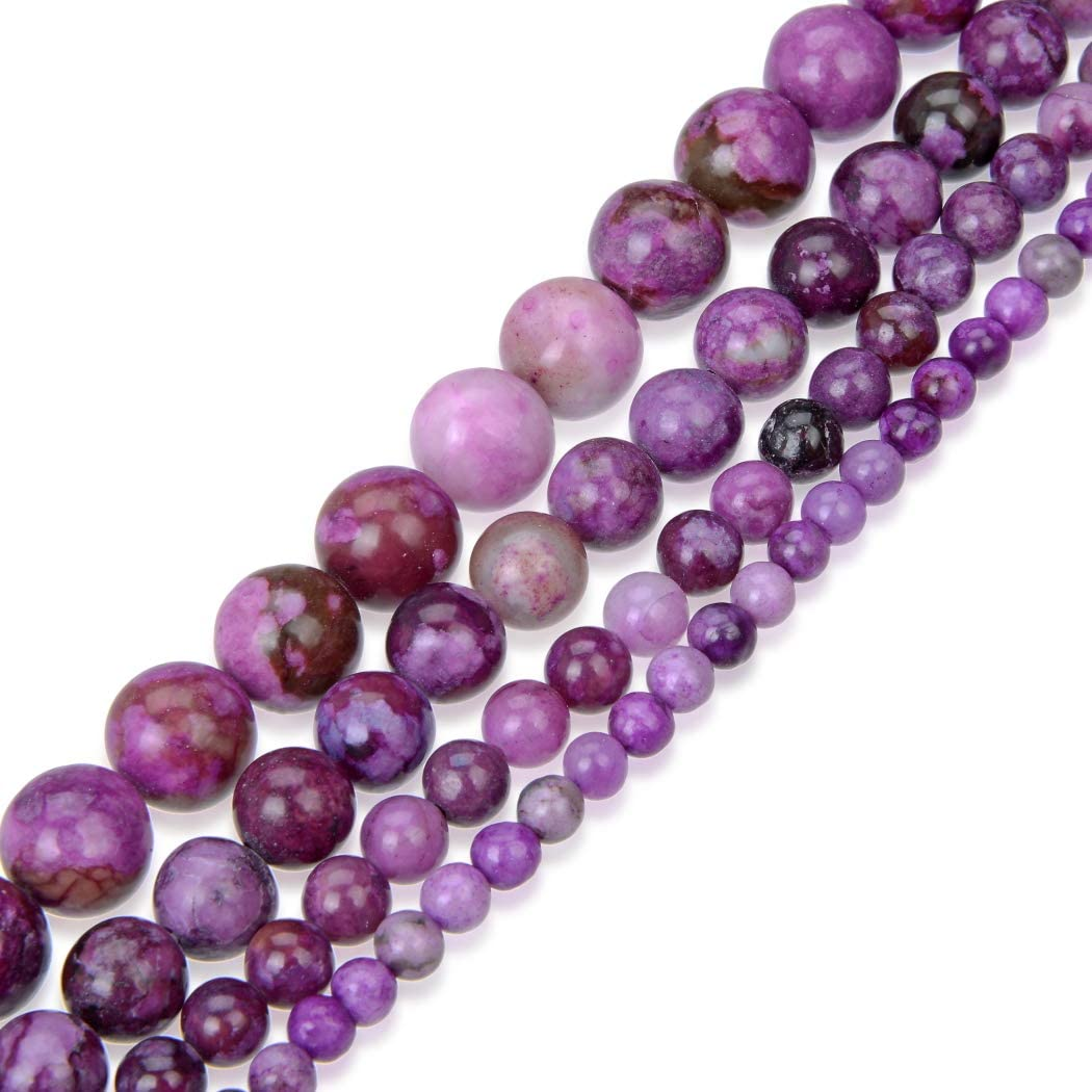Mookaite Round Beads 6mm Mixed 62 Pcs Frosted  Gemstones DIY Jewellery Making