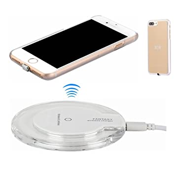 Kit de Cargador Inalámbrico para iPhone 7 Plus, hanende Qi carga inalámbrica Pad y receptor inalámbrico para iPhone 7 Plus (Oro)