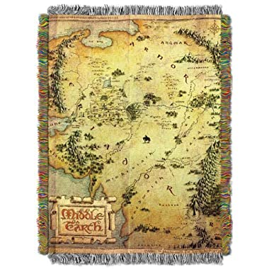 The Northwest Company Warner Brothers Acrylic Tapestry Throw, 48 by 60-Inch, The Hobbit Middle Earth