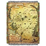 Warner Brothers The Hobbit,Middle Earth Woven Tapestry Throw Blanket, 48'' x 60''