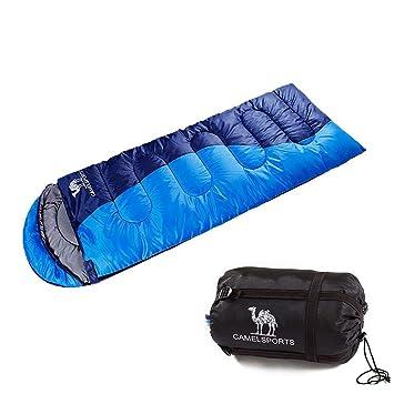 Camel Saco de Dormir Portable 3 Seasons Camping Saco de Dormir Verdickte Versión Outdoor Senderismo Camping