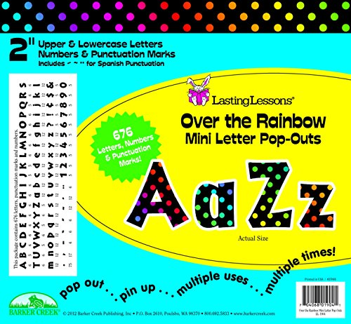 Letter Bulletin (Barker Creek 2 H in Mini Letter Pop-Outs, Over the Rainbow, Set of 676)