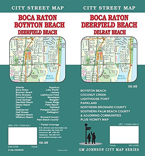 Map Of Florida Showing Boca Raton.Boca Raton Deerfield Beach Delray Boyton Beach Florida Street