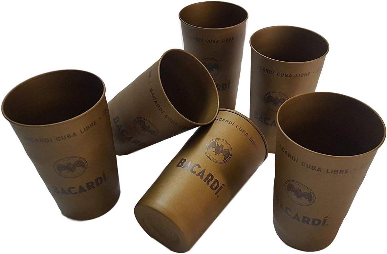 Bacardi Rum Cuba Libre metal Cub, vasos, 6 unidades de Party Highlight