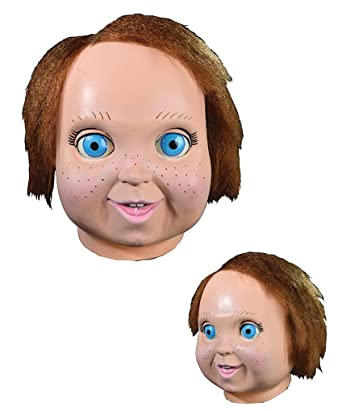 Amazon.com  Adult size Child s Play 2 - Good Guy Doll Chucky Mask or Bride  of Chucky Mask - Chucky Mask Version 2  Clothing 1b823bc4d