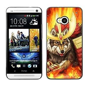 // PHONE CASE GIFT // Duro Estuche protector PC Cáscara Plástico Carcasa Funda Hard Protective Case for HTC One M7 / Wolf Warrior /