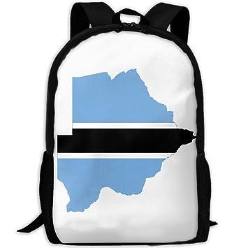 Mochilas Oxford con diseño de la bandera de Bostwana para adultos, mochilas de viaje,
