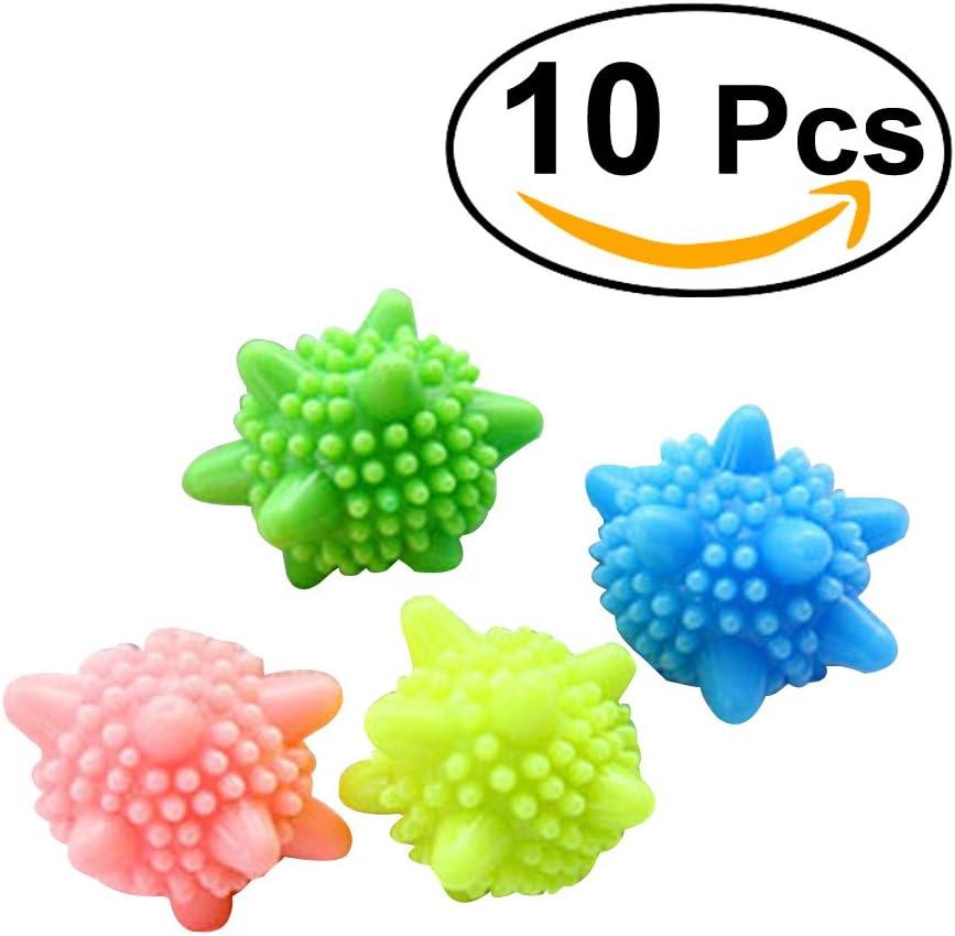 BESTOMZ Bolas de plástico para Colada Lavadora Lavandería 10 piezas