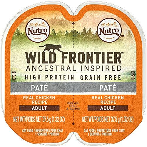 Nutro Wild Frontier High Protein Grain Free Pate Wet Cat Food, Chicken, 2.65 Oz. (24 Twin Packs)