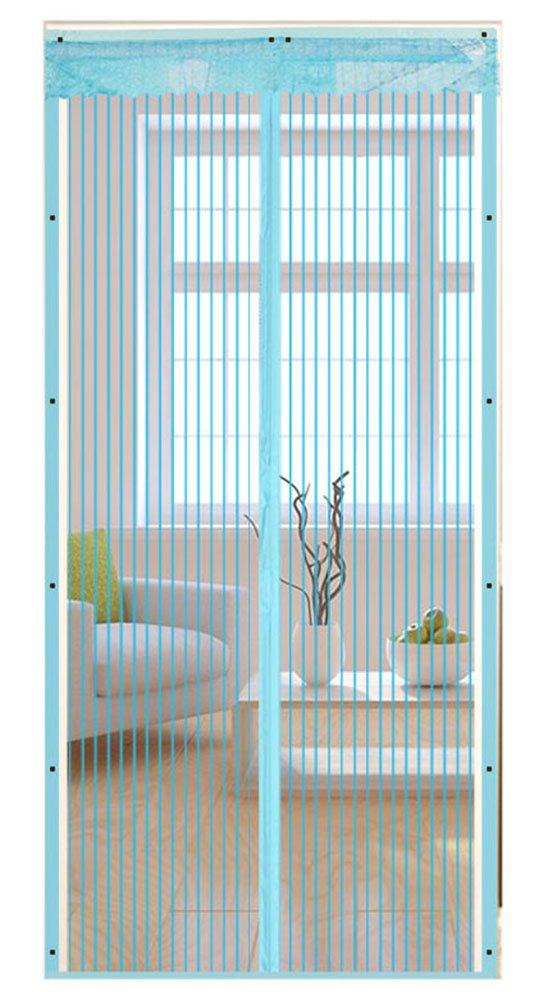 Icegrey Fliegengitter T/ür Insektenschutz Magnet Fliegen Gitter Vorhang Fliegenvorhang f/ür Balkont/ür Wohnzimmer Schwarz 100 x 240 CM