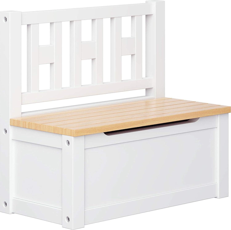 ib style® - LUCA Set di mobili per bambini | 3 combinazioni | legno massello | testato per la sicurezza | Tavolo + 2 sedie