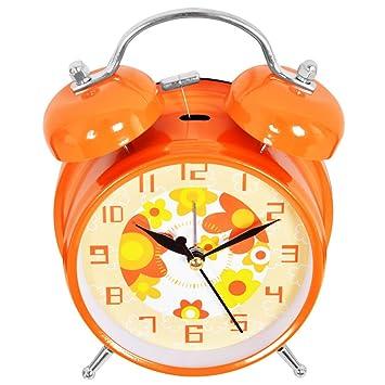 Bell mudo de la alarma con luz de noche,Orange: Amazon.es: Hogar