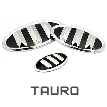3d emblema de Tauro (3 unidades) frontal + trasera + Volante (para: Hyundai Veloster, Veloster Turbo): Amazon.es: Coche y moto