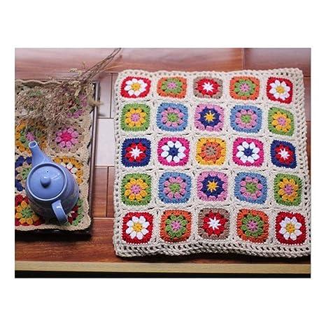RXIN Cojín de Asiento de Crochet Hecho a Mano Coreana ...