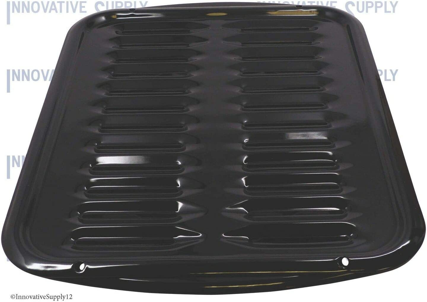Replacement for Whirlpool 4396923RW Porcelain Broiler Pan and Grill in Black
