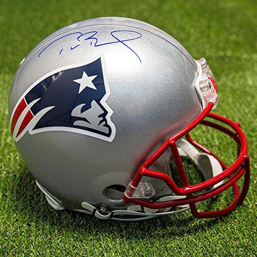 Tom Brady New England Patriots Autographed Authentic Pro NFL Football Helmet Autographed Patriots Pro Helmet